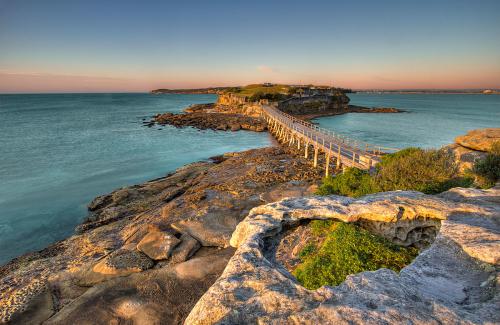 The walkway to Bare Island, La Perouse, NSW, Australia