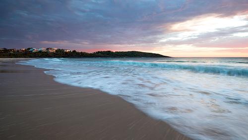 Merry Beach on Australia's NSW South Coast at sunrise.