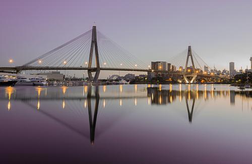 Glebe view of Anzac Bridge, Sydney